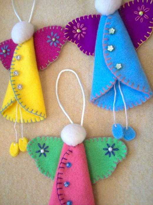 Folk Angel Ornaments by Look Happy Shop