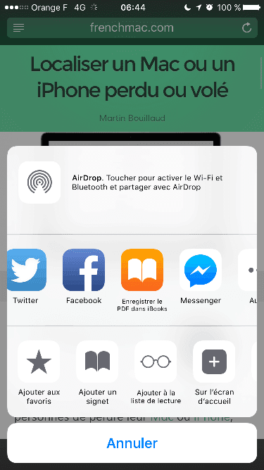 2015-11-12-06 Comment convertir une page Safari en PDF sur iPhone ?