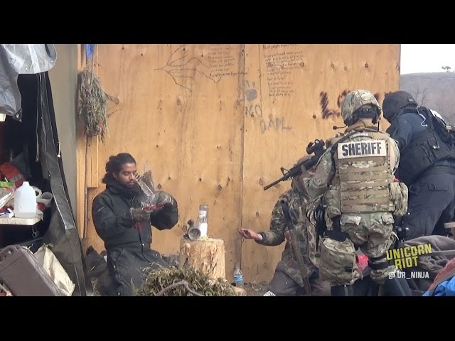 Militarized Police Evict Water Protectors from #NoDAPL Camp  Sddefault