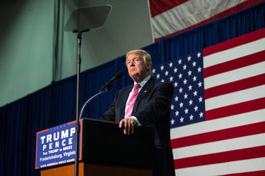 Donald J. Trump held a campaign rally in Fredericksburg, Va., on Saturday.