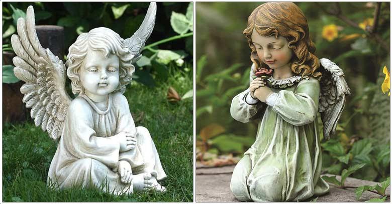 angeles estatuas custodios querubines proteccion