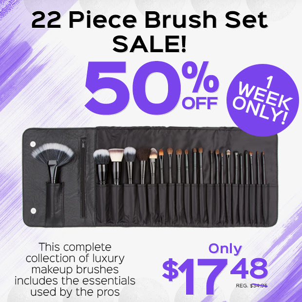 Get your Brush Set 50% Off tod...