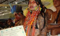 Cacique Roni, da etnia Paresí - primeira turma de professores indígenas