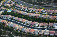 A housing development in Santa Clarita, north of Los Angeles.
