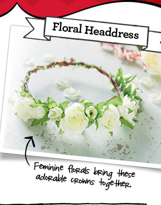 Floral Headdress - Feminine florals bring these adorable crowns together.