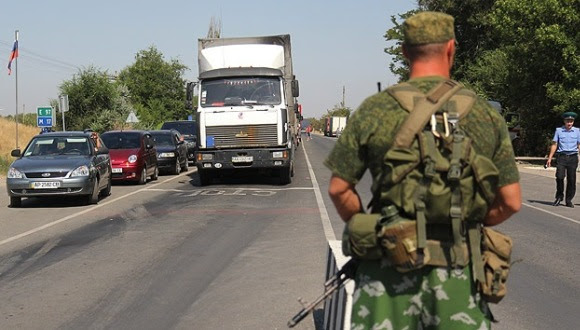 Frontera Rusia-Ucrania.