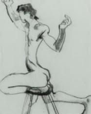 EDMA - Original Contemporary Charcoal Drawing