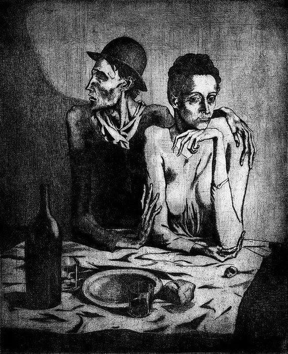 Пабло Пикассо    «Скромная трапеза»    1904 (568x700, 158Kb)