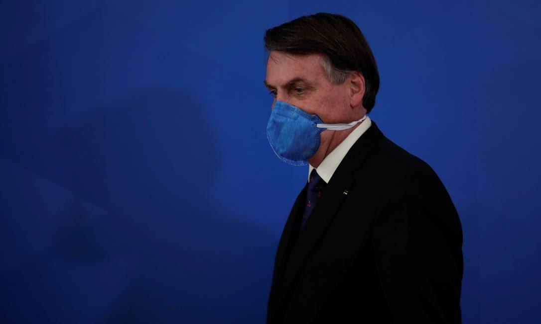 O presdiente Jair Bolsonaro 20/03/2020 Foto: UESLEI MARCELINO / REUTERS