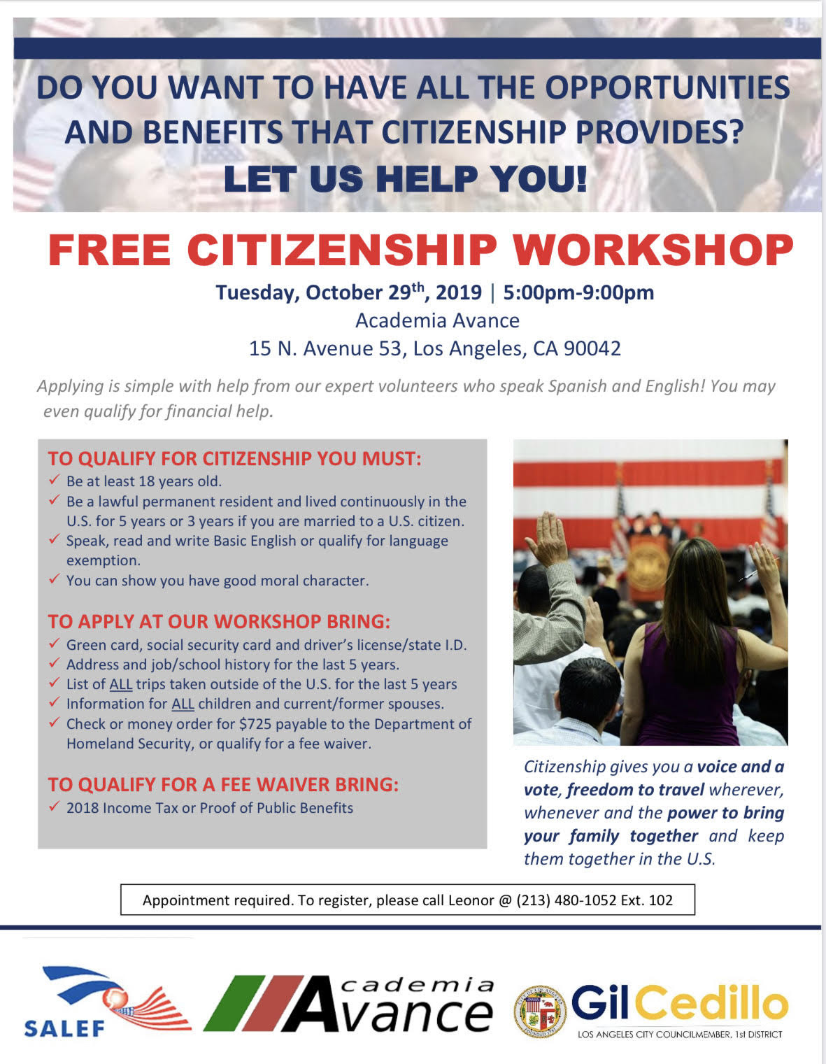 Citizenship Workshop SPANISH 10-29-19
