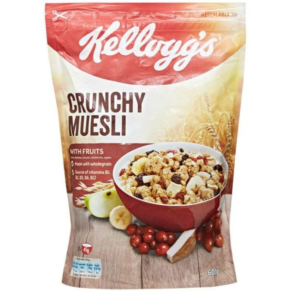 Kellogg's Crunchy Museli with Dried Fruits 380g