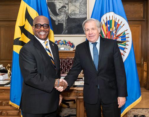 Nuevo Embajador de Barbados ante la OEA presenta credenciales