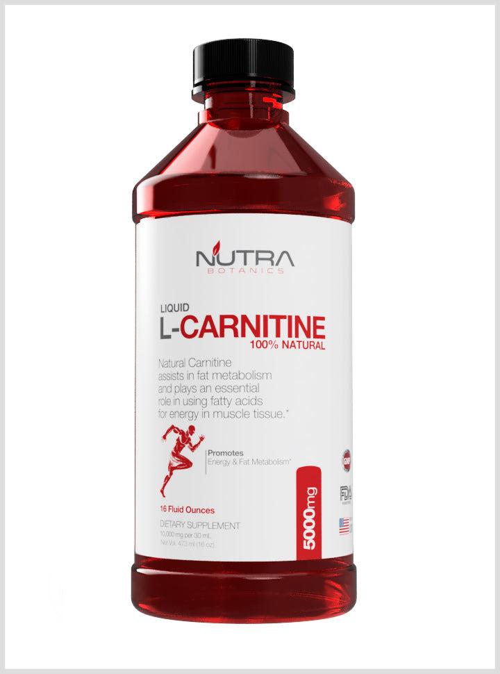 Image of L Carnitine Liquid 5000 mg-16 Fl. Oz. -Nutra Botanics- L-Carnitine
