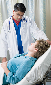 Male Clinician with patient