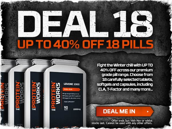 Save up to 40% off selected pills + free UK delivery on order £75 at TheProteinWorks.com