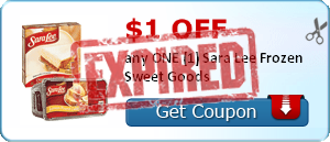 $1.00 off any ONE (1) Sara Lee Frozen Sweet Goods