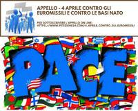 Appello - 4 Aprile 2019 contro gli euromissili e contro le basi NATO
