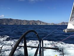 J/125 sailing off Catalina Island