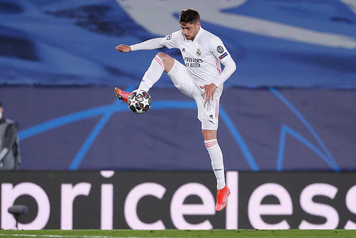 Federico Valverde in action against Liverpool