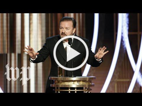 Ricky Gervais roasts Hollywood at the 2020 Golden Globes | The Washington Post