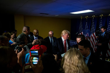 Donald J. Trump attended a round table with educators and students at Cleveland Arts and Social Sciences Academy in Cleveland on Thursday.