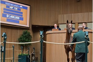 A colt by American Pharoah sold for $1.4 million to top the Sept. 12 session of the Keeneland September Yearling Sale