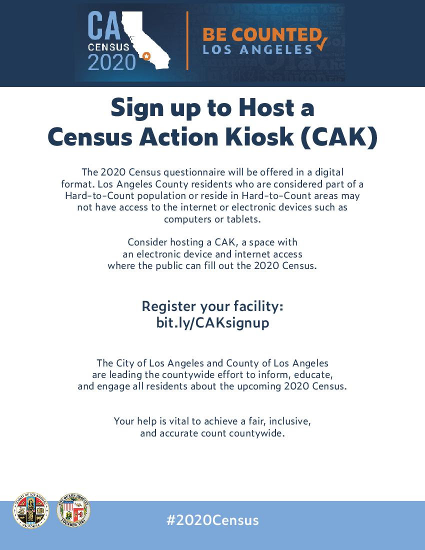 Sign up Census Kiosk