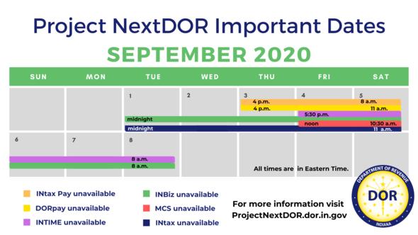 PND Rollout 2 Cutover calendar