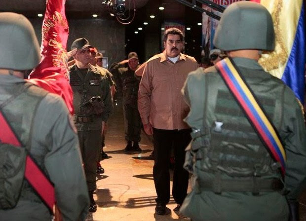 Jefe de Estado fue recibido por el Alto Mando Militar que estuvo desplegado en distintos puntos del país.
