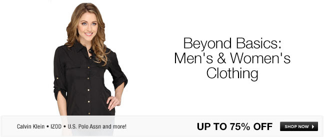 Save Up to 75% OFF Men's & Women's Clothing Calvin Klein & U.S. Polo Assn and more at 6pm.com