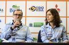 Sabrina Murzoni Castelo Branco e Carlos Eduardo Sachs da organização do Sertôes (Luciano Santos/SigCom)