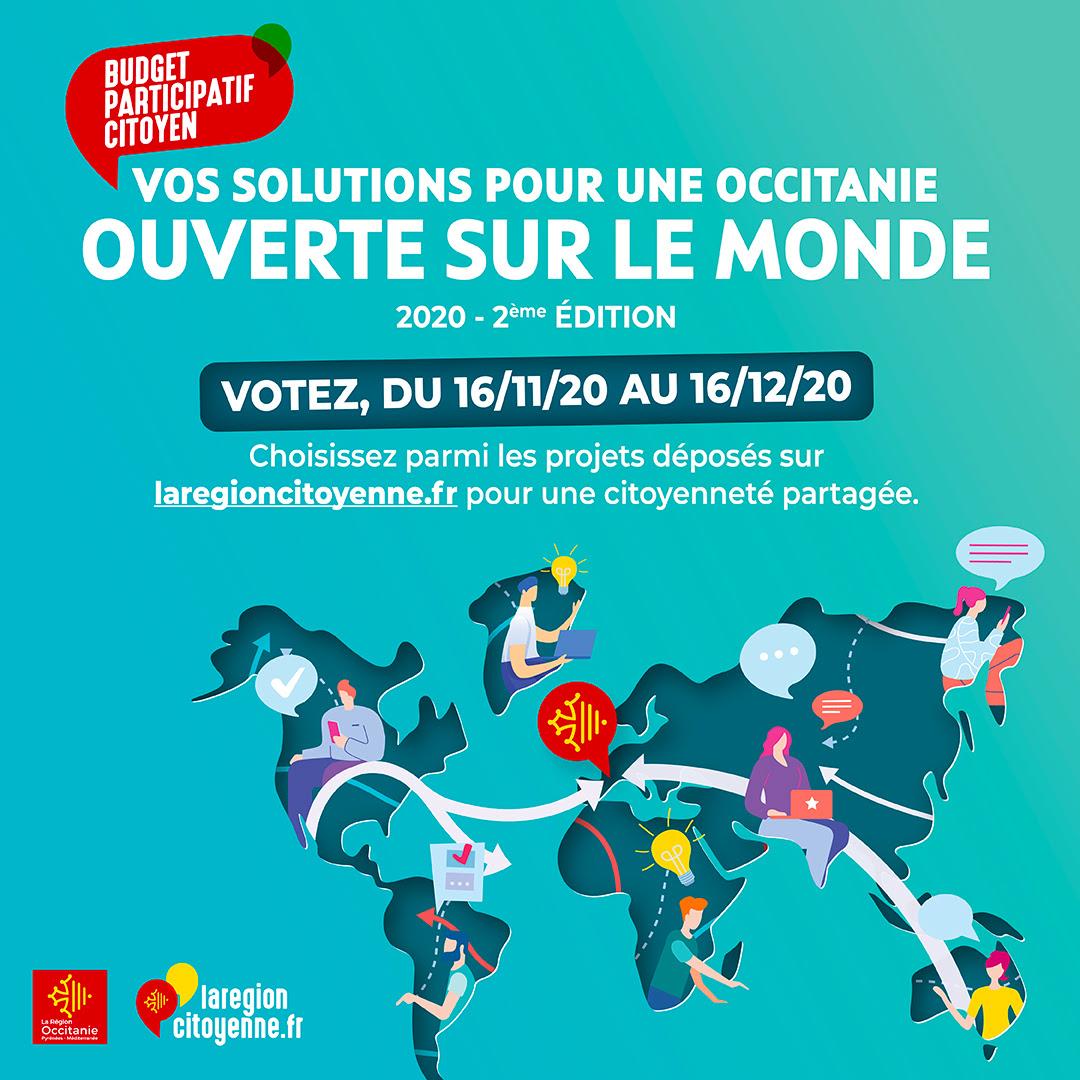 Budget participatif Occitanie ouverte sur le monde
