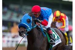 Mongolian Groom wins the Awesome Again Stakes at Santa Anita Park