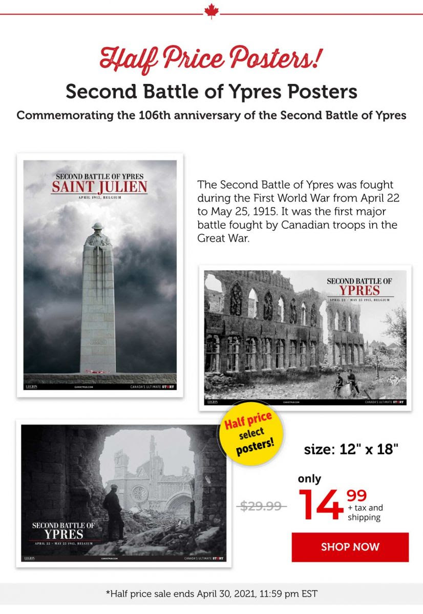 Second battle of Ypres Posters
