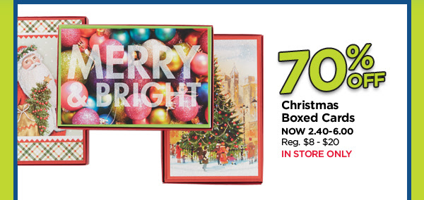70% Off Christmas Boxed Cards