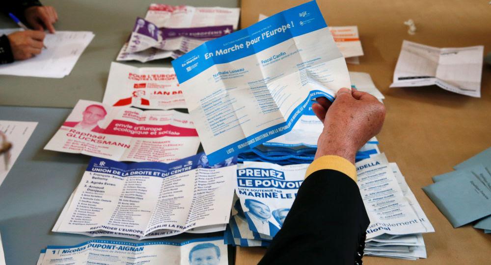 Conteo de votos tras las elecciones europeas