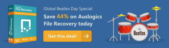 Global Beatles Day Special: 40% Off on Auslogics File Recovery