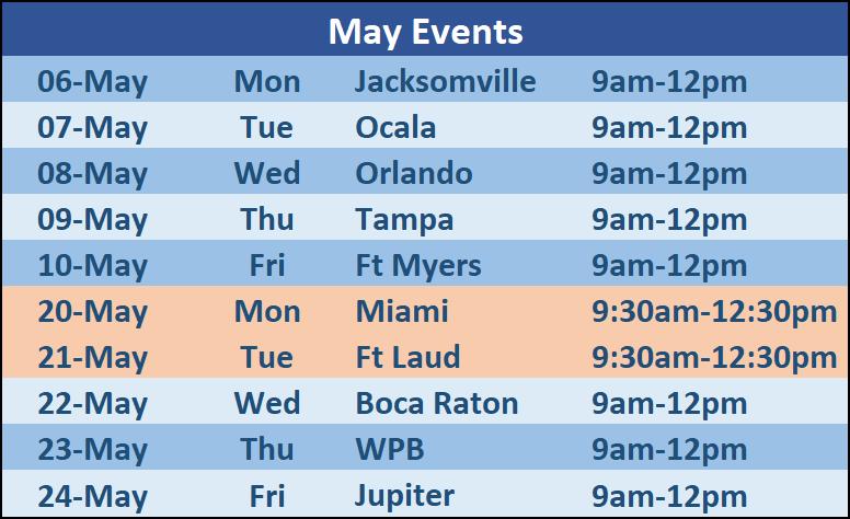 SChedule seminars