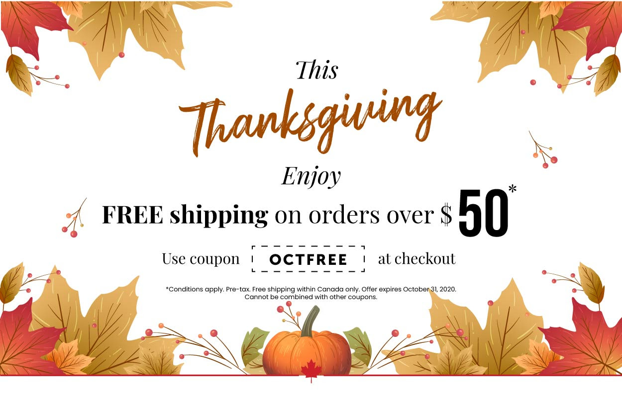 Happy Thanksgiving! Free shipping on orders over $50