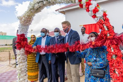 The Sanaag Specialty Hospital was officially opened by David Stirling, Barkhad Hassan, and Edna Adan.
