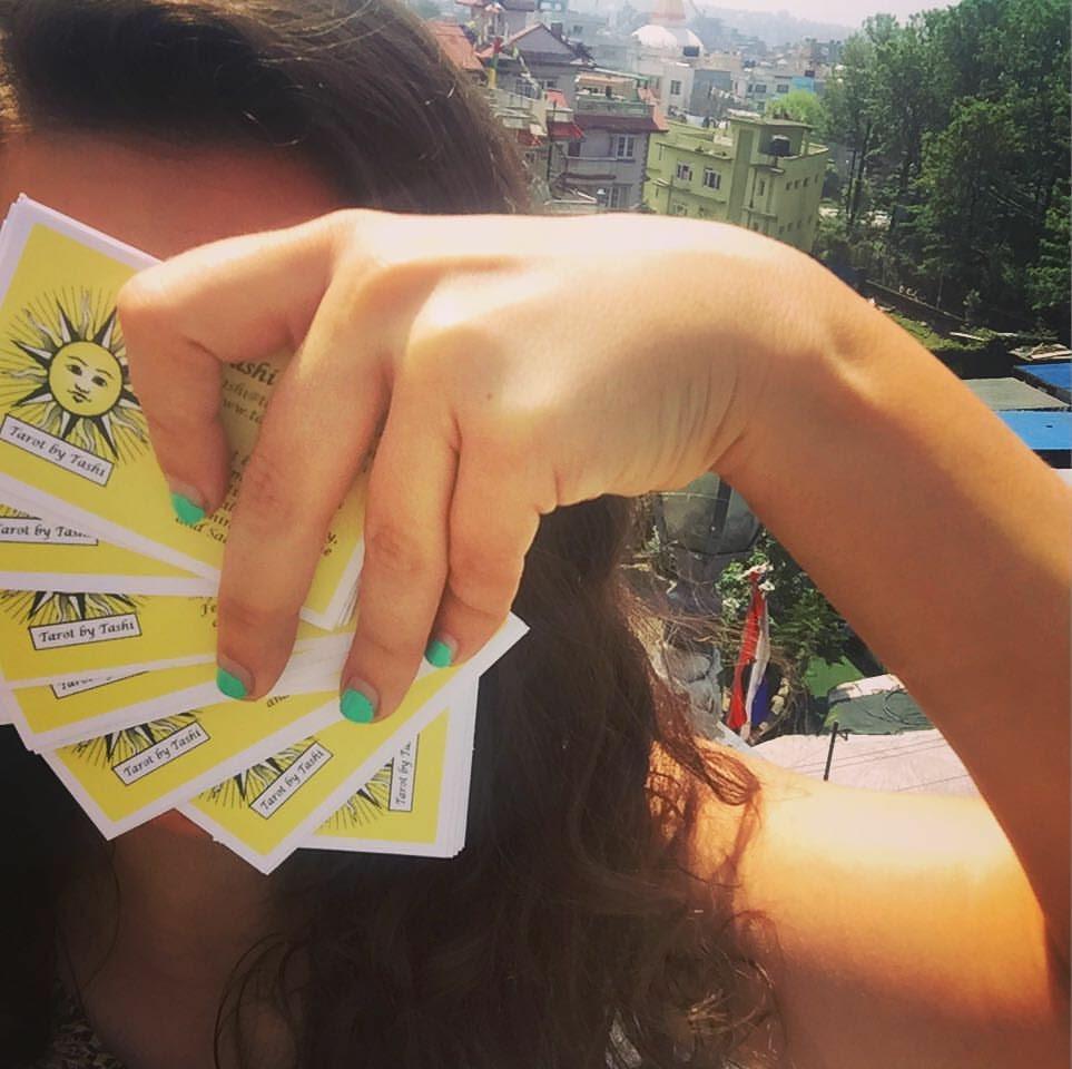 Tashi with Tarot Cards