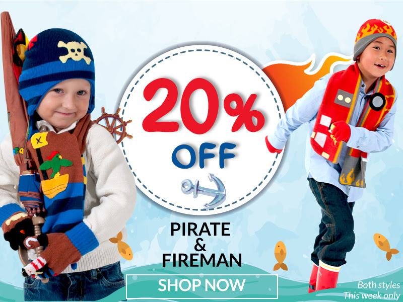 Get 20% off our Pirate and Fir...