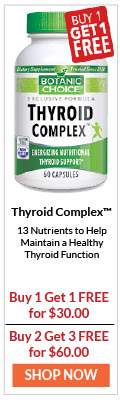 Thyroid Complex have 13 Nutrients to Help Maintain a Healthy Function