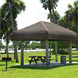 Picnic area at Collier-Seminole State Park