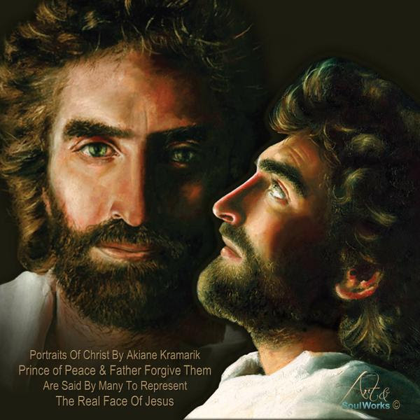 Jesus Prince of Peace and Father Forgive Them profile montage by www.Art-SoulWokrs.com