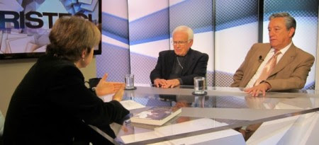 Raúl Vera Bernardo Barranco con Carmen Aristegui en CNN