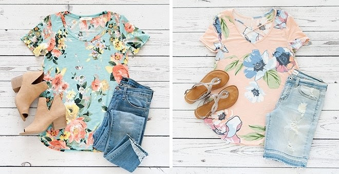 HOT!! Floral Tops Sale...