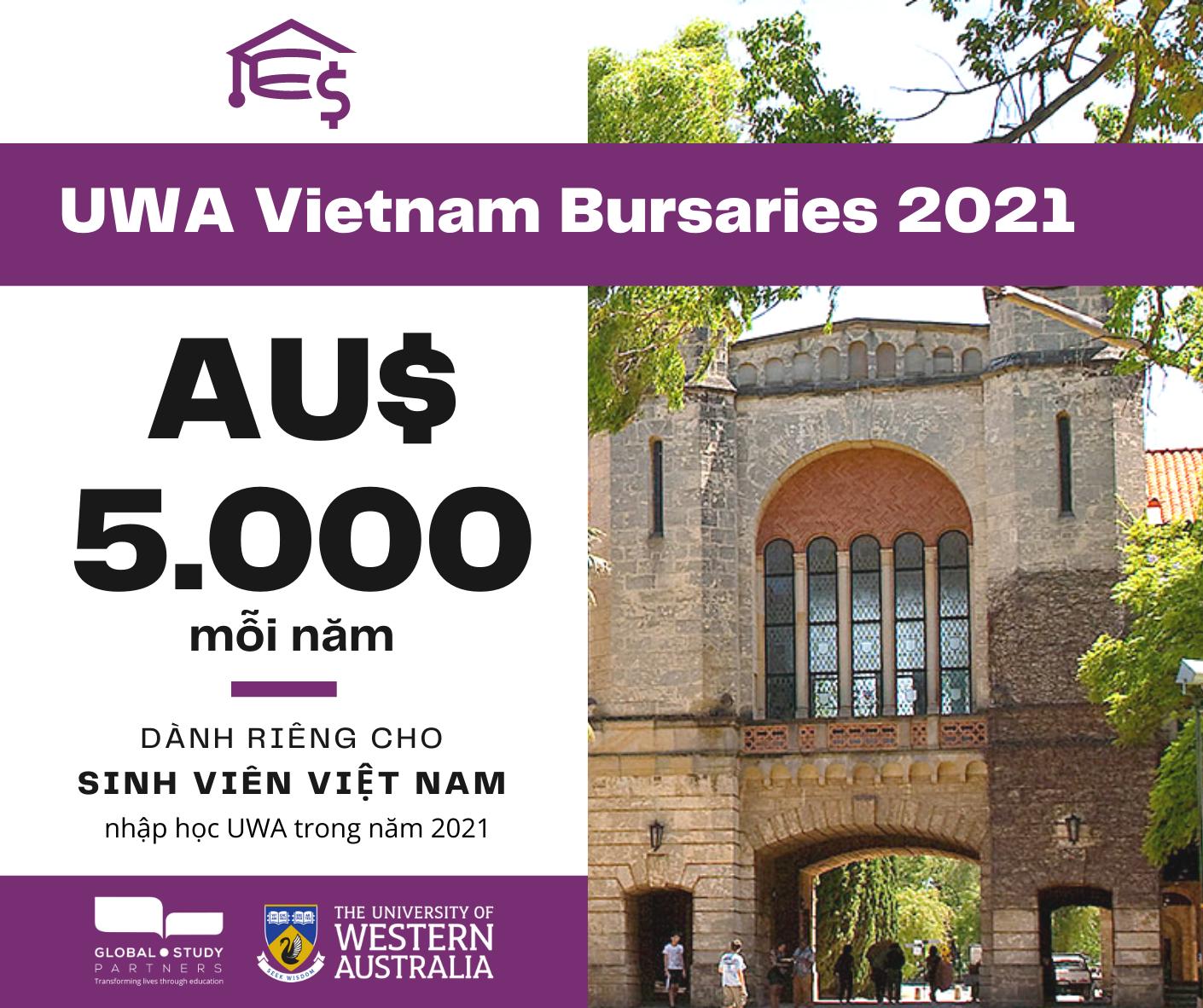 Đại học Tây Úc cấp học bổng lên đến 15,000AUD/1 năm
