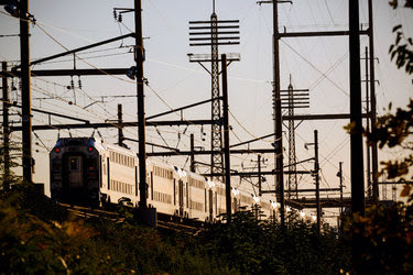 A New Jersey Transit train near Secaucus Junction station in N.J. The state wants to build a new railroad tunnel under the Hudson River.