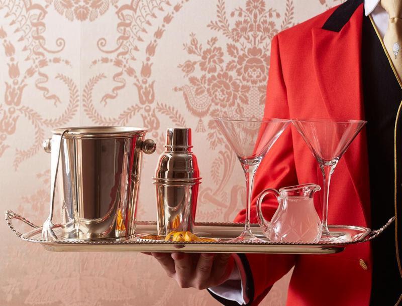 Goring Hotel Drink on Tray